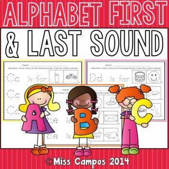 Beginning and Ending sounds Worksheet Beginning sounds and Ending sounds