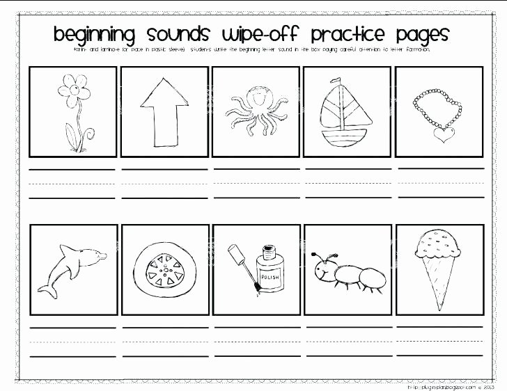 Beginning and Ending sounds Worksheet Phonemic Awareness Worksheets for Grade Phonics Worksheets