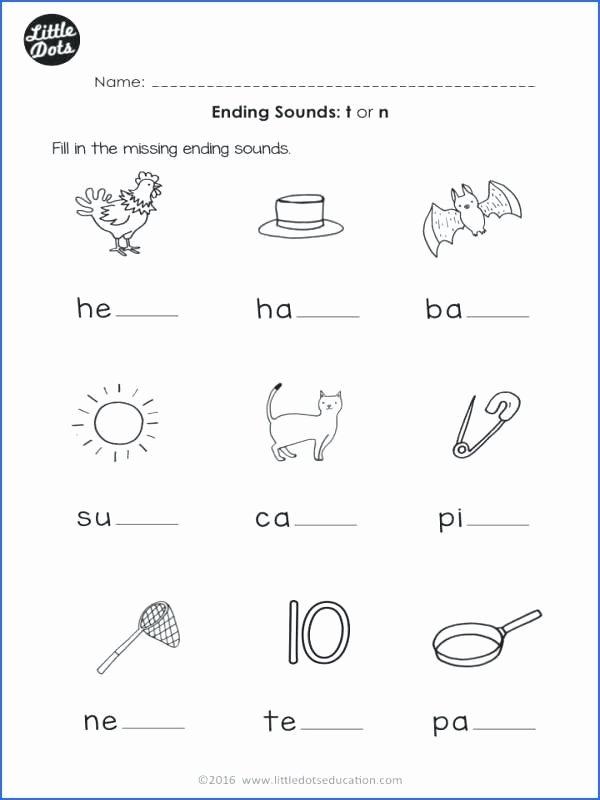Beginning and Ending sounds Worksheets Phonics Activities for Kindergarten Unique Phonics