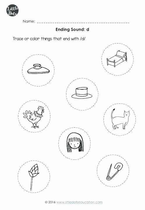 Beginning and Ending sounds Worksheets Preschool Letter sounds Worksheets Teaching Letter sounds