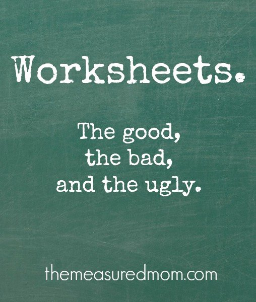 Big Vs Little Worksheets are Worksheets Good or Bad the Measured Mom