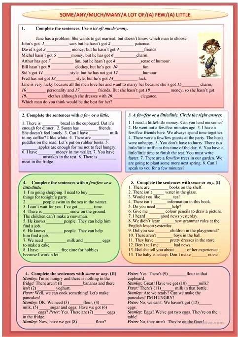 Big Vs Little Worksheets Much and Many Worksheets Quantifiers Kids for Kindergarten