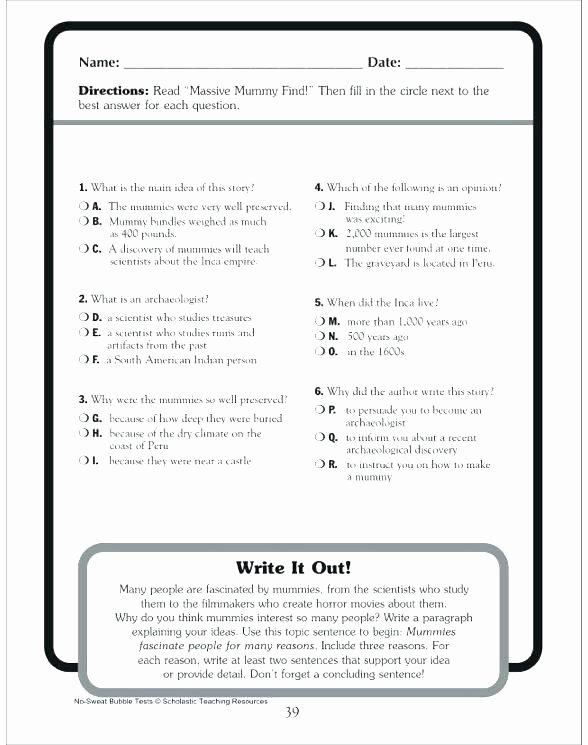 Big Vs Little Worksheets Short Reading Prehension Worksheets – Primalvape