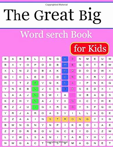 Big Vs Little Worksheets the Great Big Wordserch Book for Kids Word Search for Kids