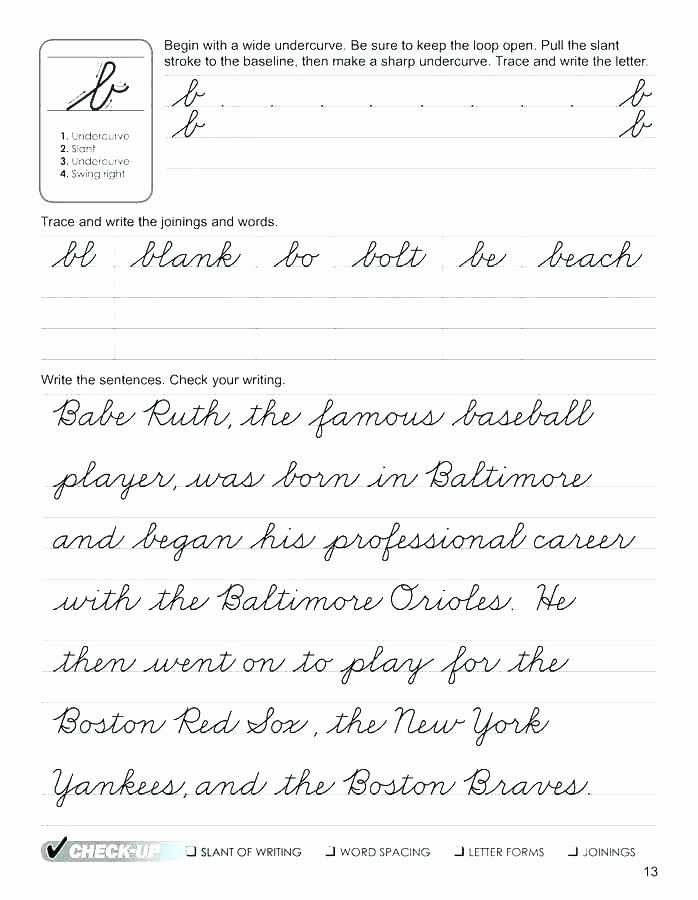 Blank Cursive Practice Sheets Blank Cursive Writing Worksheets for Grade Fifth Free