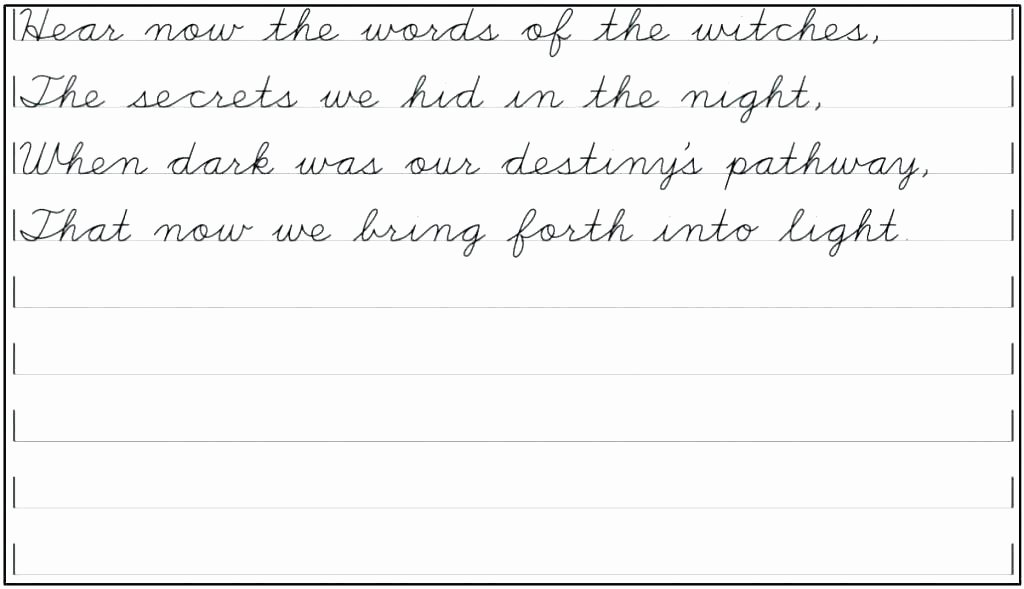 Blank Cursive Practice Sheets Blank Handwriting Template Practice Cursive Free Paragraph