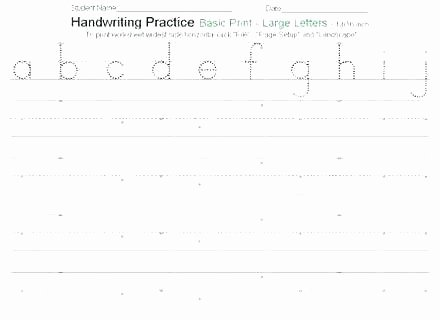 Blank Cursive Practice Sheets Blank Handwriting Worksheets Paper for First Grade Lined