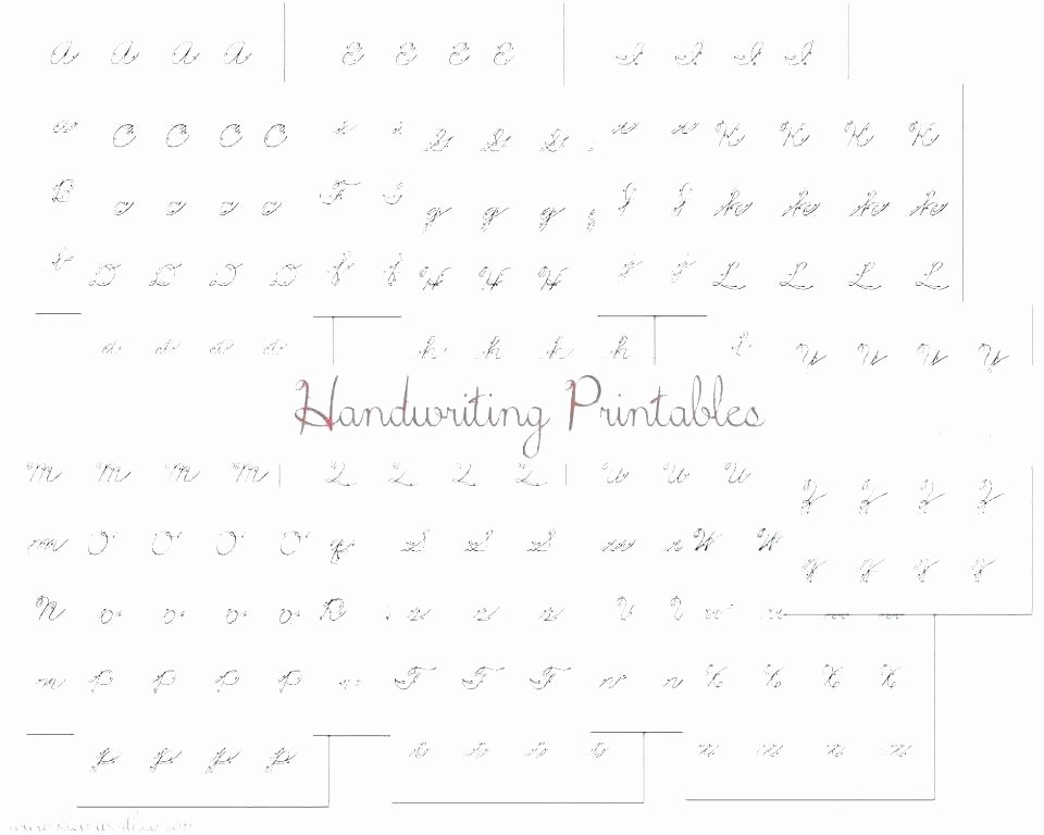 Blank Cursive Practice Sheets Cursive Handwriting Dotted Letters Lines Font Tracing