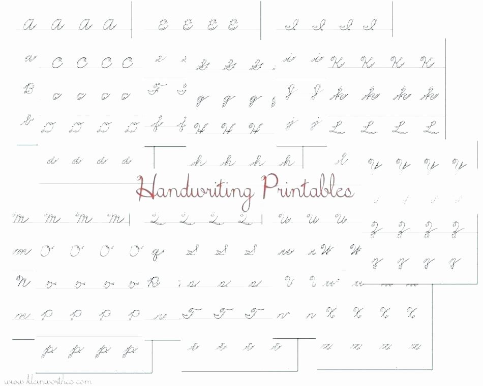 Blank Cursive Practice Sheets Free Blank Handwriting Worksheets for Kindergarten
