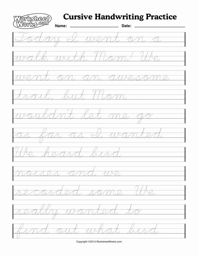 Blank Cursive Practice Sheets Kindergarten Writing Practice Worksheets