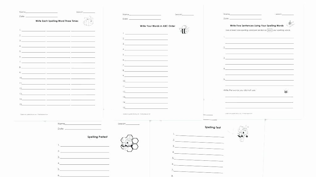 Blank Spelling Worksheets Beautiful Spelling Test Printable Worksheets