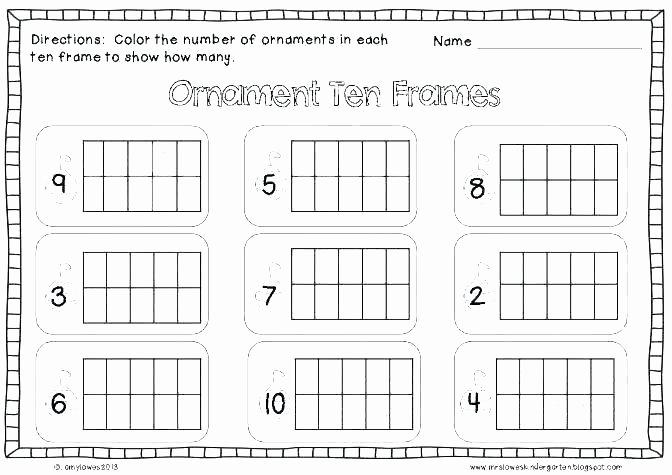 Blank Ten Frame Worksheets Free Printable Ten Frame Addition Worksheets
