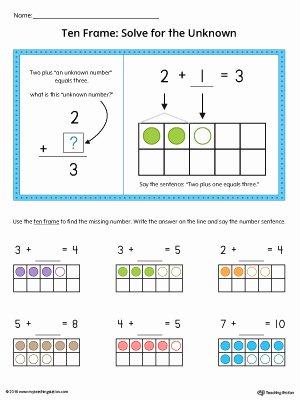Blank Ten Frame Worksheets Kindergarten Printable Worksheets