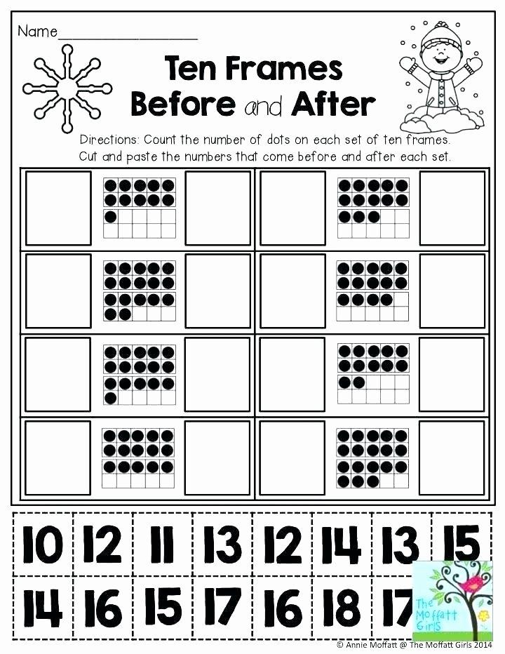 Blank Ten Frame Worksheets Ten Frame Addition Worksheets
