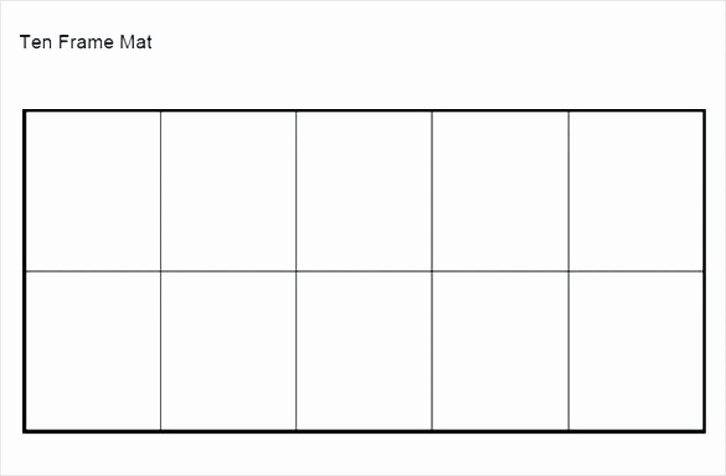 Blank Ten Frame Worksheets Ten Frame Math Activity with Free Printable Sheets In