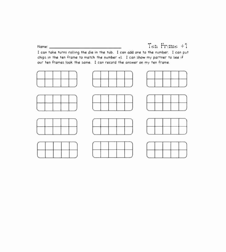 Blank Ten Frame Worksheets Worksheet Free Printable Egg Ten Frame Workshe Numbers 1