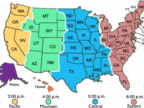 Blank Us Map Quiz Printable Free Printable Time Zone Map