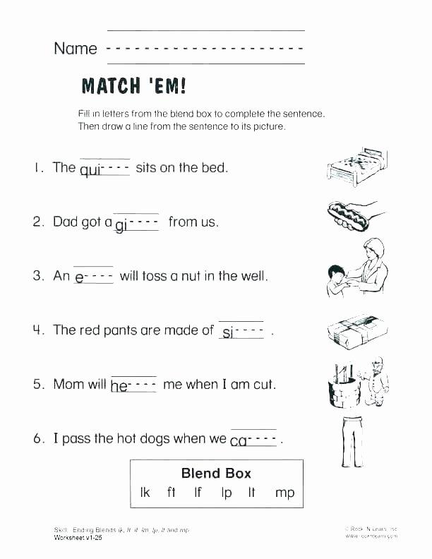 Blending Worksheets 1st Grade Consonant Worksheets