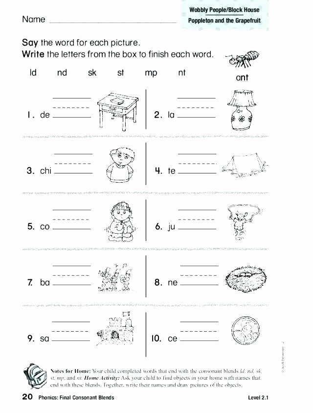 Blending Worksheets 1st Grade Phonics Consonant Blends Worksheets
