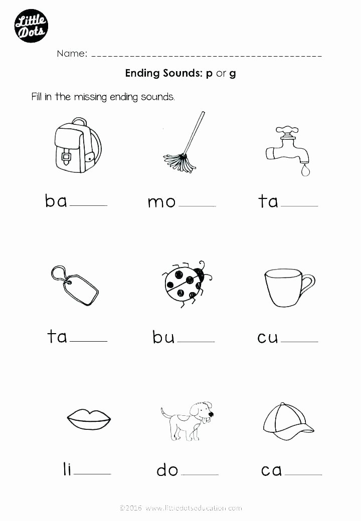 Blends Worksheet for First Grade Beginning Consonant sounds Worksheets for Grade 1 Worksheet