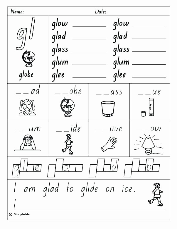 Blends Worksheet for First Grade Blending sound Worksheets Consonant Blends Ending Phonics