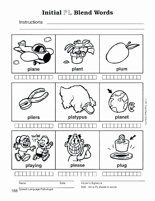 Blends Worksheet for First Grade Blends Worksheets for First Grade