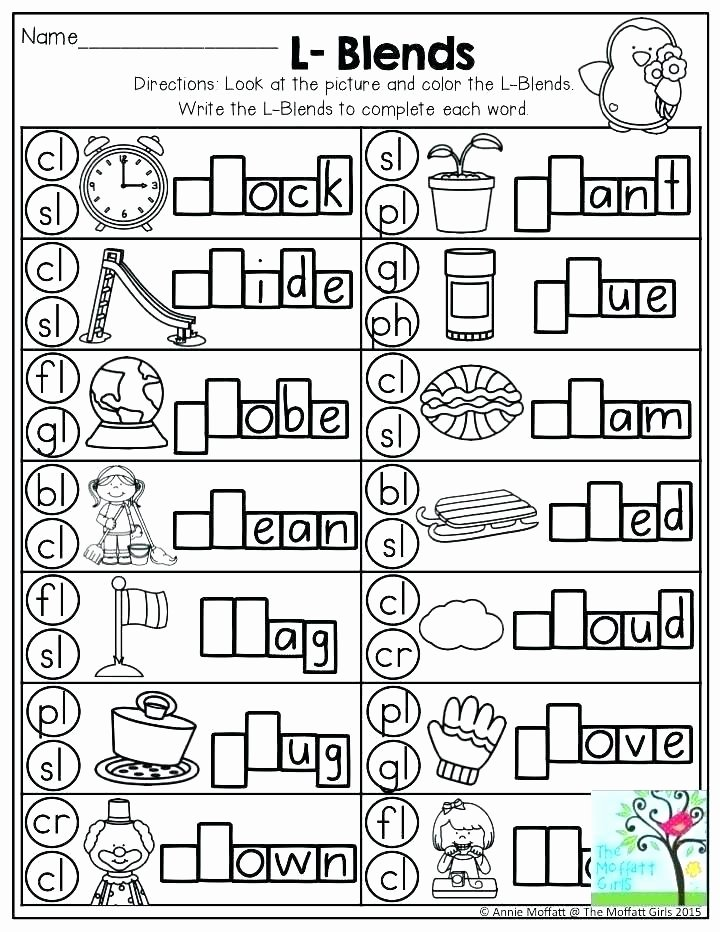Blends Worksheet for First Grade Blends Worksheets Free Beginning Consonant Blends Worksheets