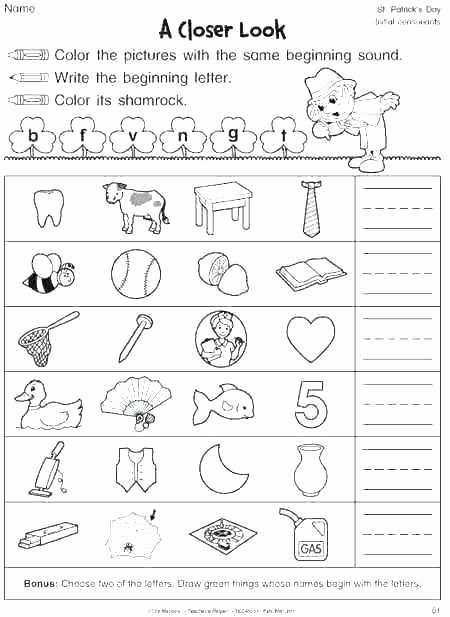 Blends Worksheet for First Grade Double Vowel Worksheets Consonant First Grade 1 Kids Long L