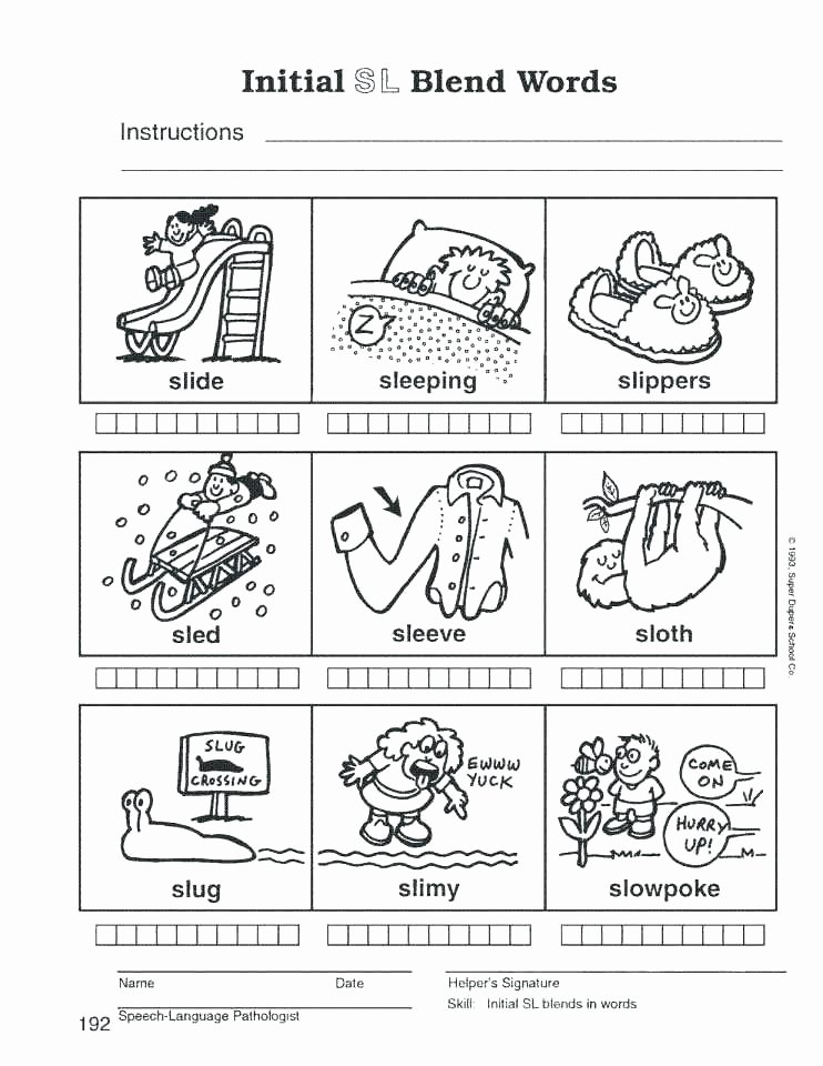 Blends Worksheet for First Grade Phonics Worksheets for First Grade