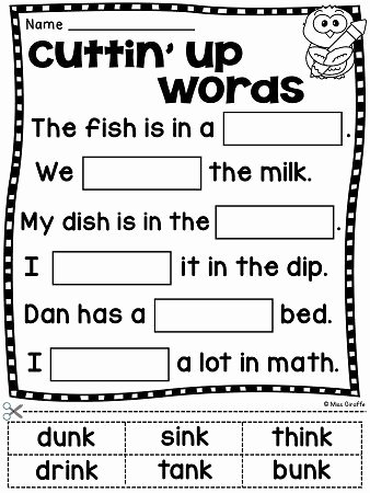 Blends Worksheet for First Grade Pin On First Grade Literacy