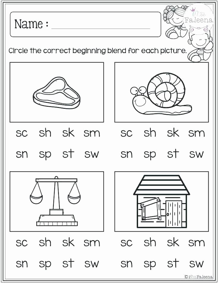 Blends Worksheet for First Grade R Blends Worksheets
