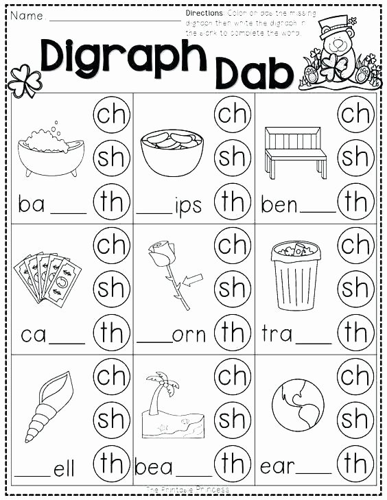 Blends Worksheet for First Grade Vowel Worksheets for First Grade Phonics and Vowels
