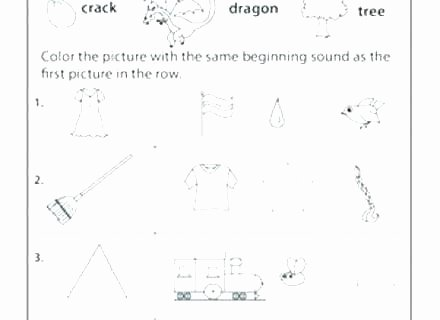 Blends Worksheets for 1st Grade Beginning Consonant Worksheets
