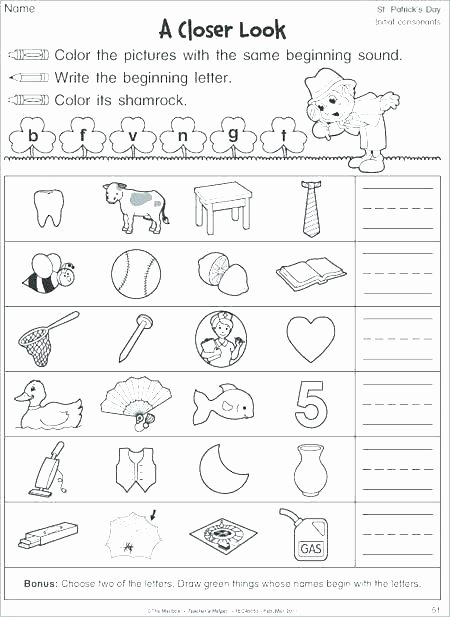 Blends Worksheets for 1st Grade Chic St Blend Worksheets First Grade for Best Consonant