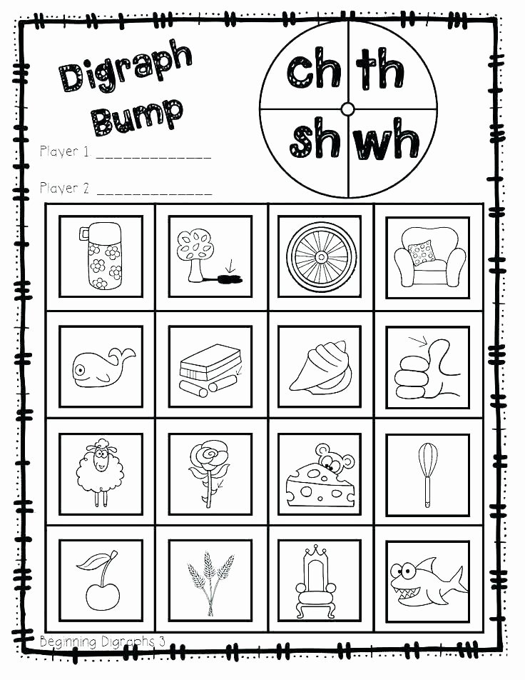 Blends Worksheets for 1st Grade Consonant Digraphs Activities