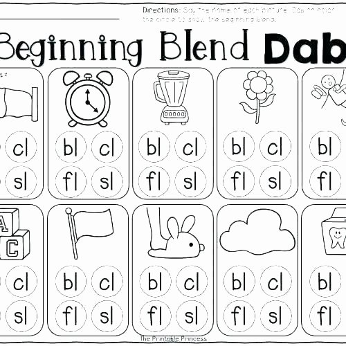 Blends Worksheets for 1st Grade First Grade Phonics Worksheets Free Kids Blends Second