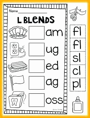 Blends Worksheets for 1st Grade L Blends Printable Worksheets Blending Activities Words R