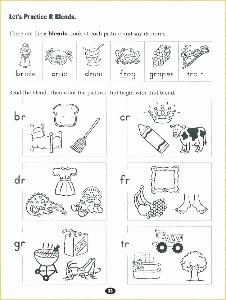 Blends Worksheets for 1st Grade Phonics Blends Worksheets Free