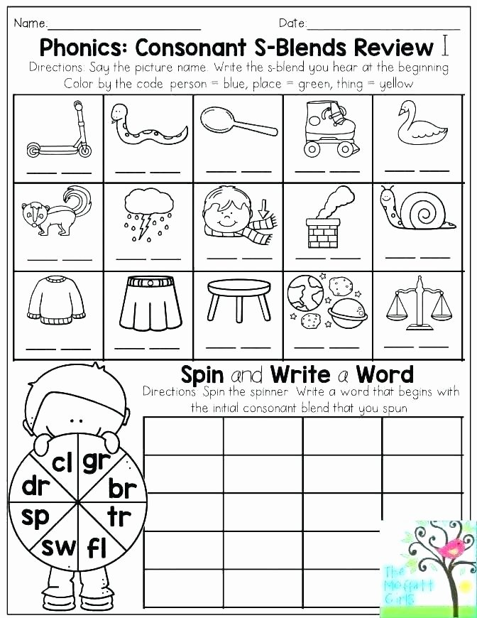 Blends Worksheets for 1st Grade Phonics Worksheets First Grade 2 Free Second 4 Phonics