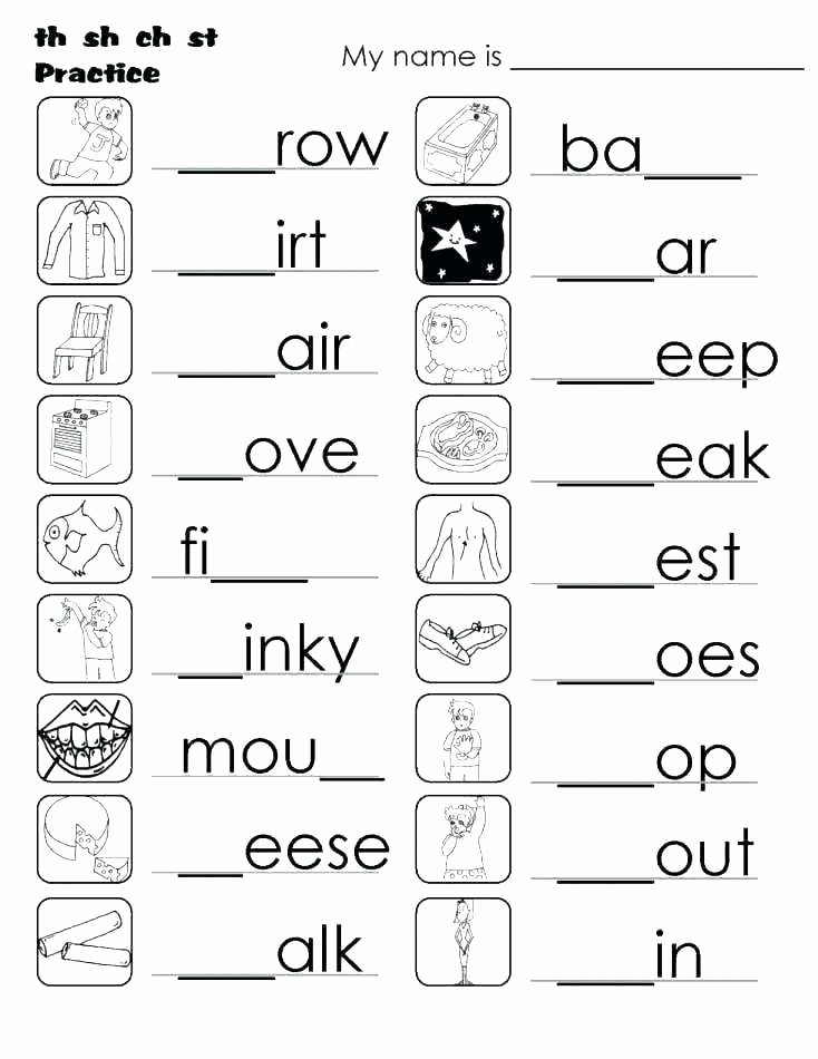 Blends Worksheets for 1st Grade Sh Worksheets for 1st Grade Sh Worksheets Digraph Sh