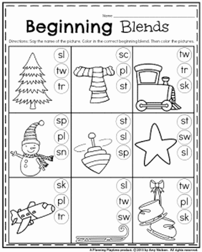 Blends Worksheets for 1st Grade Worksheets for 1st Grade Reading Antihrap