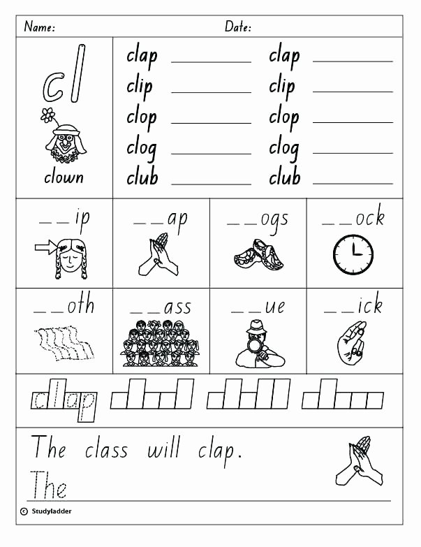 Blends Worksheets Kindergarten Free Blending Phonemes Worksheets Phonics Worksheet Blends Free