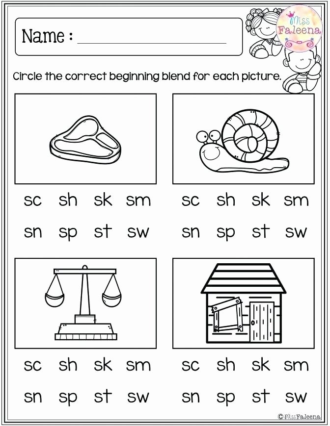 Blends Worksheets Kindergarten Free Phoneme Worksheets Phoneme Blending Worksheets Phonics