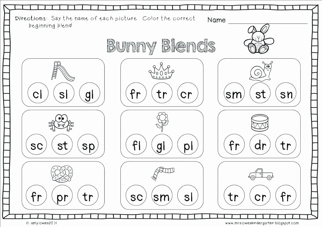 Blends Worksheets Kindergarten Free Th Worksheets