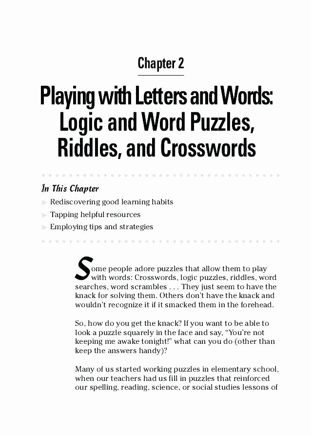 Brain Teaser Answers Worksheets Brain Stretcher Worksheets Answers