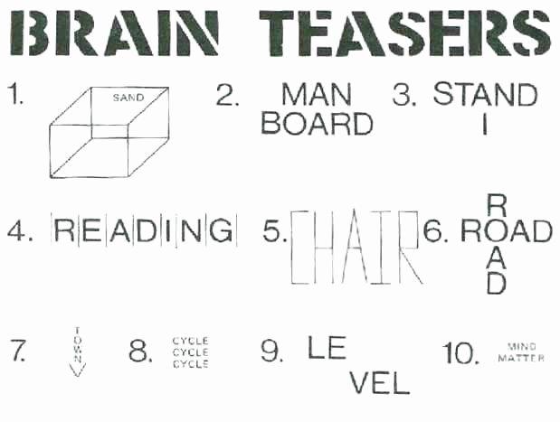 Brain Teaser Worksheets Middle School Printable Brain Teaser Worksheets for Adults Free Math