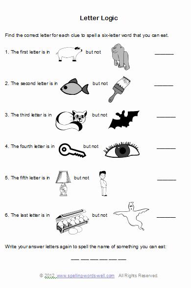 Brain Teasers for Kids Worksheet Brain Teaser Worksheets for Spelling Fun Education