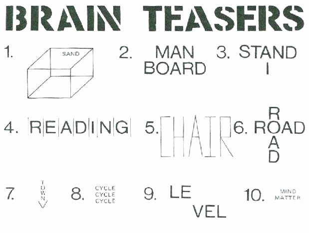 Brain Teasers for Kids Worksheets Free Printable Brain Teasers Adults Fresh Math Worksheets