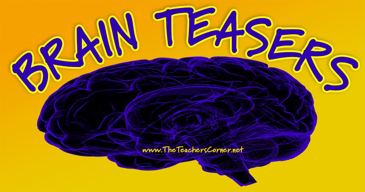 Brain Teasers Worksheet 2 Answers Brain Teasers for Kids