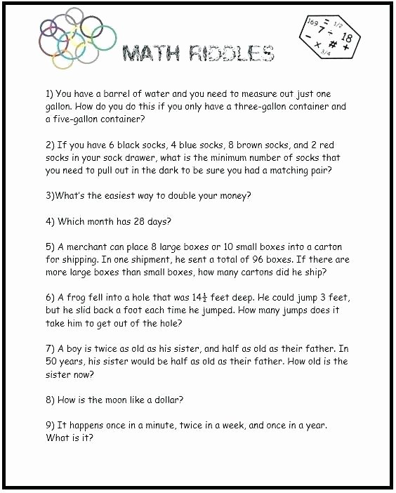 Brain Teasers Worksheet 2 Answers Math Brain Teasers Worksheets Best Brains Worksheets Brain